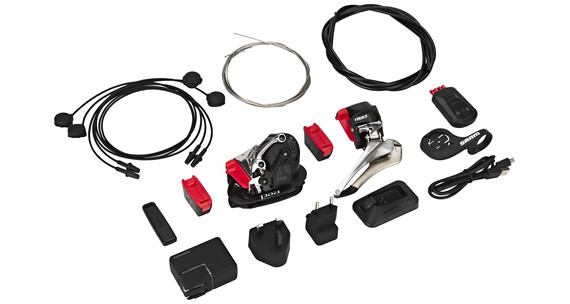 SRAM RED eTap Aero/TT Fietsonderdelen 2 x 11-speed zwart/zilver